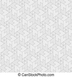 Vector monochrome pattern - geometric seamless simple black and white modern texture