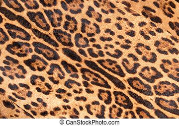 Faux leopard fur texture background