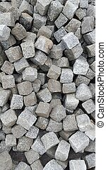 Cubic rocks - Pile of cubic rocks to be used for a vintage...