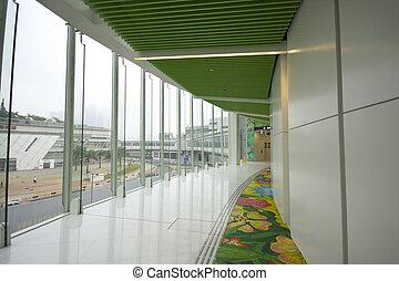It is a modern flyover at Hong Kong