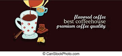 coffee cup design background