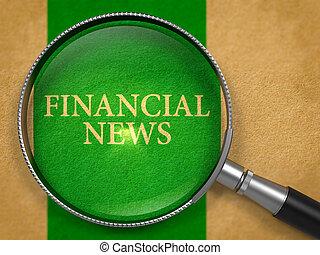 Financial News Concept through Magnifier.
