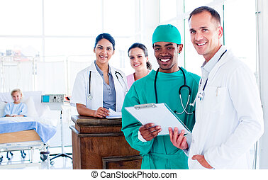 Medical consultation between doctors and a patient