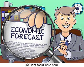 Economic Forecast through Lens Doodle Concept - Economic...