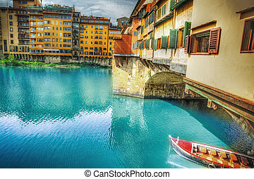 Ponte Vecchio and Arno river in Florence