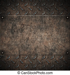 old grungy diamond plate - image of old grungy diamond plate...