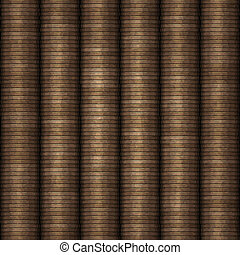 rows of coins money - great background of rows of coins