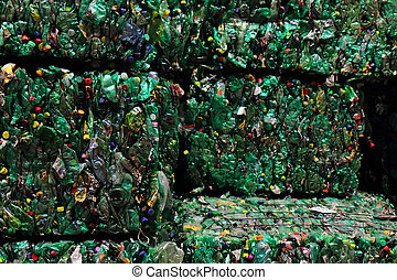 plastic pet bottle garbage as nice color background