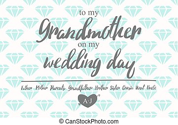 Thank You Card on my Wedding day. - To my grandmother on my...