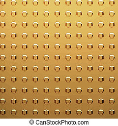 gold sheet with rivet heads - a very large sheet of gold...