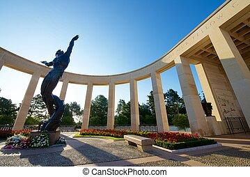 Cemetery - Memorial in American Cemetery, Coleville-sur-Mer,...