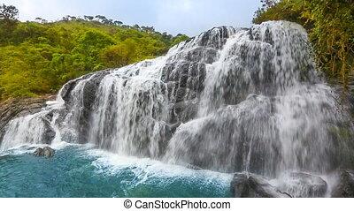 Bakers falls. Horton plains national park. Sri Lanka.