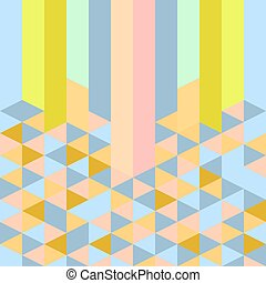 abstract retro geometric pastel art deco style pattern