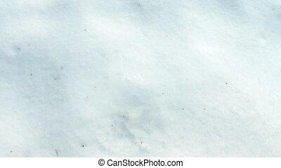 Boot Leaves Footprint In The Snow - Foot leaves print in...