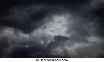 Realtime Ominous Storm Clouds - Dramatic storm clouds...