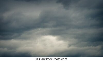 Overcast Evening Sky Timelapse - Heavy cloud cover moving...