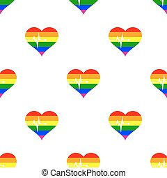 Seamless background with Gays icons for your design