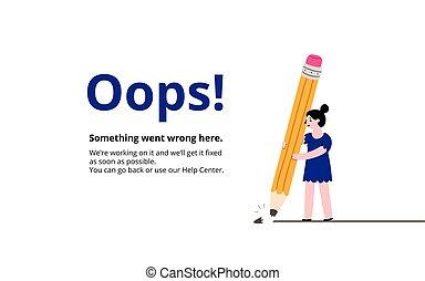 Oops broken pencil page - Oops broken pencil 404 error page,...