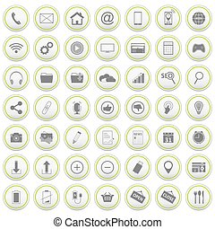 Web vector icons set.