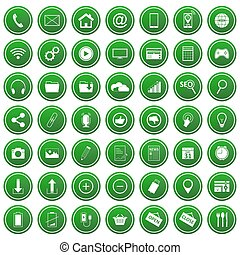 Set of vector business website icons.