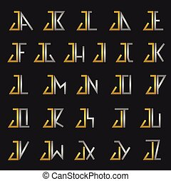 Letter J with alphabet - J and other alphabet letters...