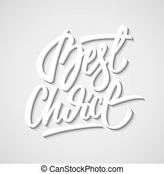 White Big Sale Calligraphy Letterin - White best choice...