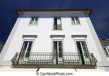 evora - decorated facade in the city of Evora, Portugal