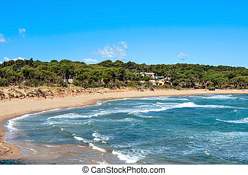 Rec del Moli beach in La Escala, Spain - a view of the Rec...