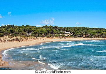 Rec del Moli beach in La Escala, Spain - a view of the Rec...