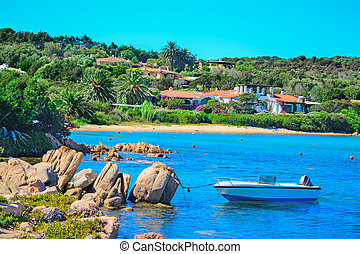 small boat in Porto Cervo, Sardinia