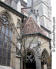 Jackobs Kirche, Rothenburg - The St Jakobs Kirche gothic...