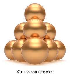 Pyramid sphere ball hierarchy top order leadership golden group