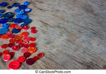 trendy and nice buttons - trendy red green and blue buttons...