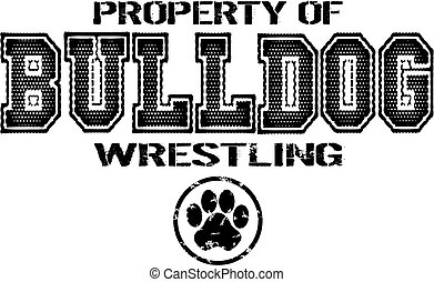 bulldog wrestling - distressed bulldog wrestling team design...