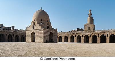 patio,  tulun, mezquita,  ibn