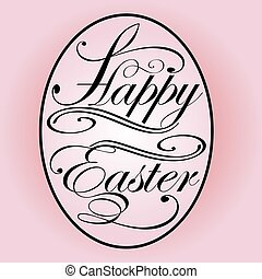 illustration background with lettering on the theme of Easter eggs