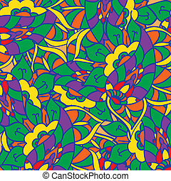 Vector doodle hand drawn pattern Texture with abstract...