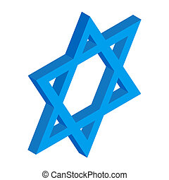 Star of David isometric 3d icon