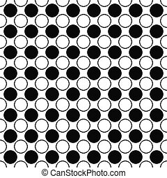 Repeating black white circle pattern