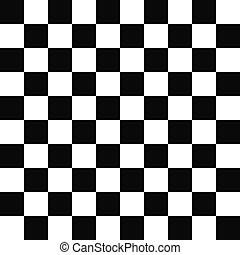 Seamless black and white checkered pattern - Seamless black...