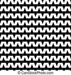Repeating black white abstract triangle pattern
