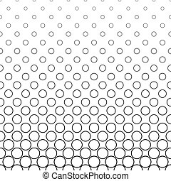 Repeating black white vector circle pattern design