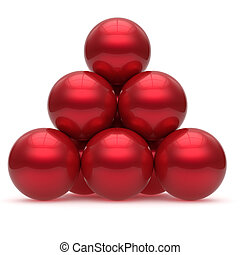 Pyramid sphere ball red hierarchy corporation top leadership