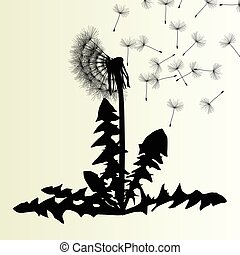 Abstract dandelion background vector illustration springtime...