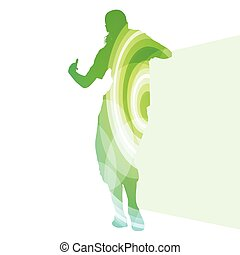 Street dancer young active and healthy people sport silhouette vector background