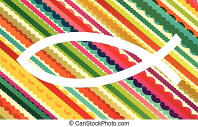 Christian fish abstract vector background concept...
