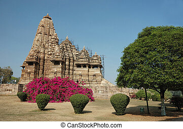 Hindu temples at Khajuraho - famous sacred place of...