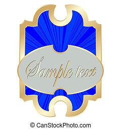 Gold frame label