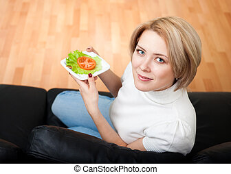 Woman follow healthy lifestyle