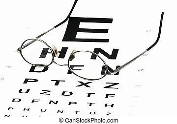 occhio, grafico, occhiali